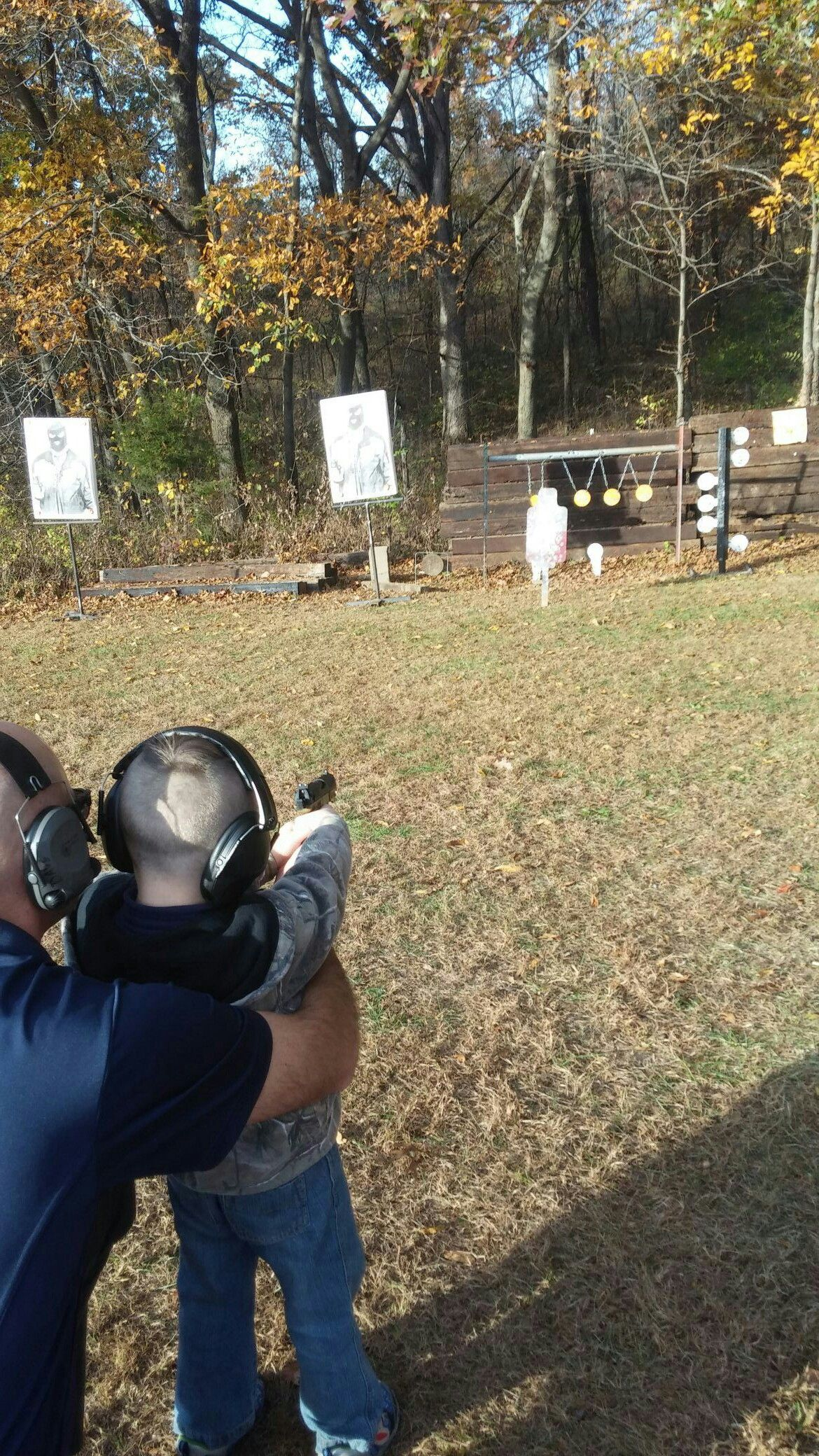 Safe fun at the range with my kids! Firearms training