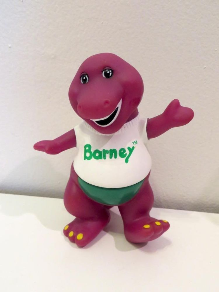 Vintage 1990s Lyons Barney Poseable Plastic Pvc Toy Figure Or Cake