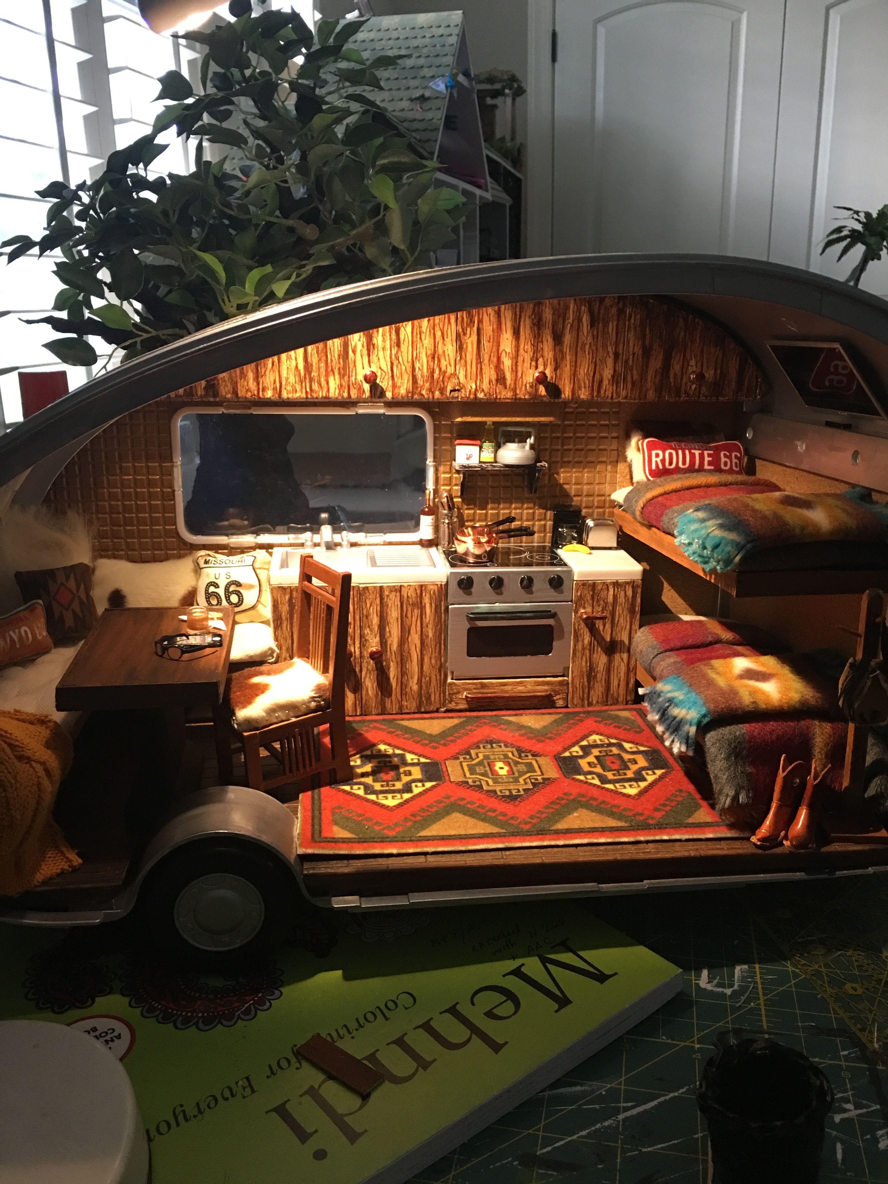 Lori Glamper, Our Generation Camper, Miniature Camper Reno, Lori Dolls,