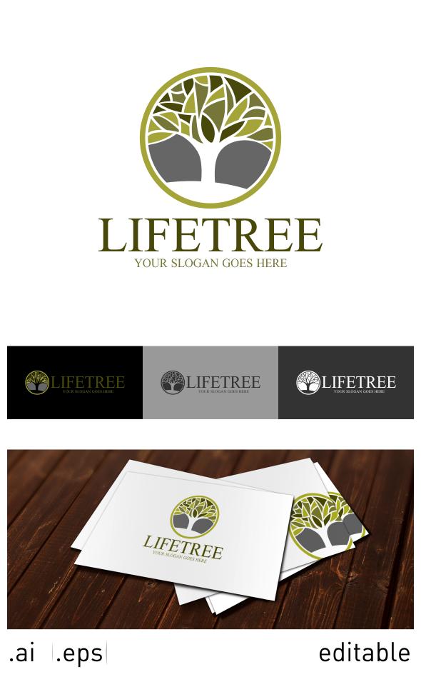 Life Tree Logo On Behance Tree Logo Design Tree Logos Logo Templates