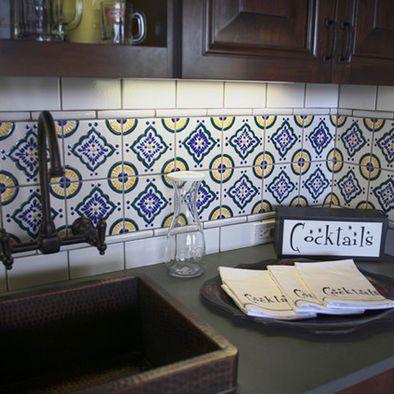 Mexican Tile Backsplash Design A More Basic For Our Kitchen I Don
