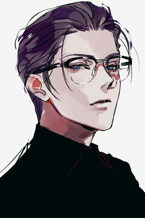 This Reminds Me Of Atticus Except For The Glasses And Eye Color L Think Anime Guys With Glasses Manga Illustration Anime Art