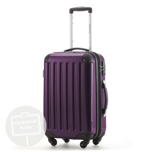 Alex Hand Luggage On-Board Suitcase Cabin Bag Carry Case Purple ...