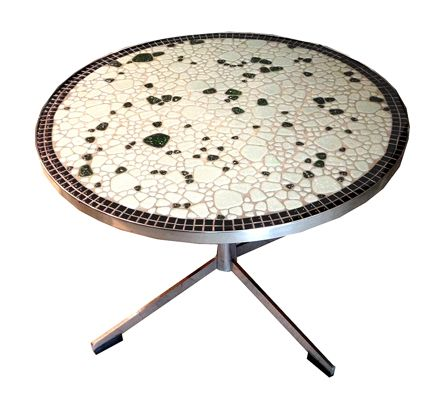 Mid 20th Century Metal  Pebble Mosaic Coffee/Side Table
