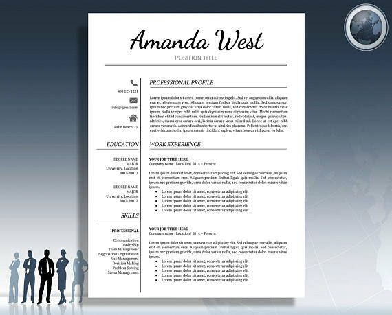 Resume Template Modern Resume Template Professional Resume Resume
