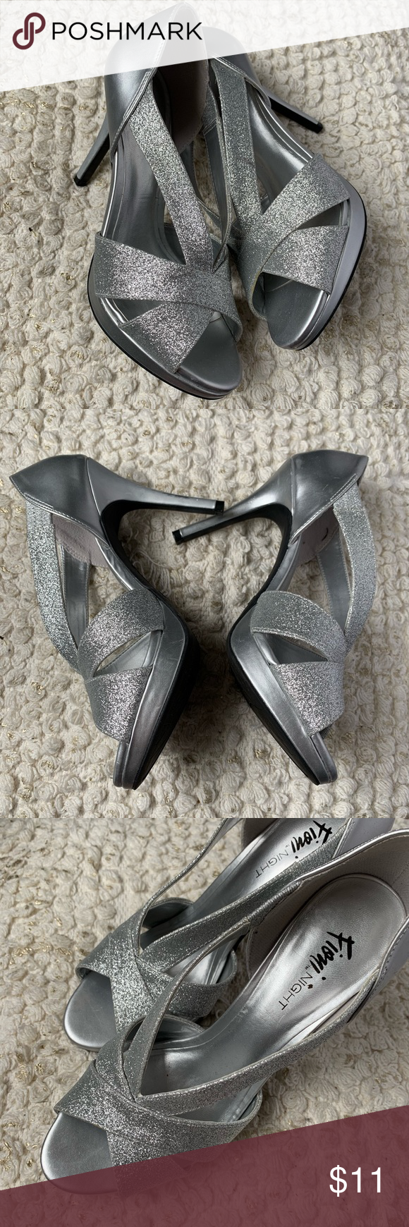 08eaeb540e Fioni Icicle Glitter Pumps Worn once. Like new. Fioni brand from Payless.  Fioni