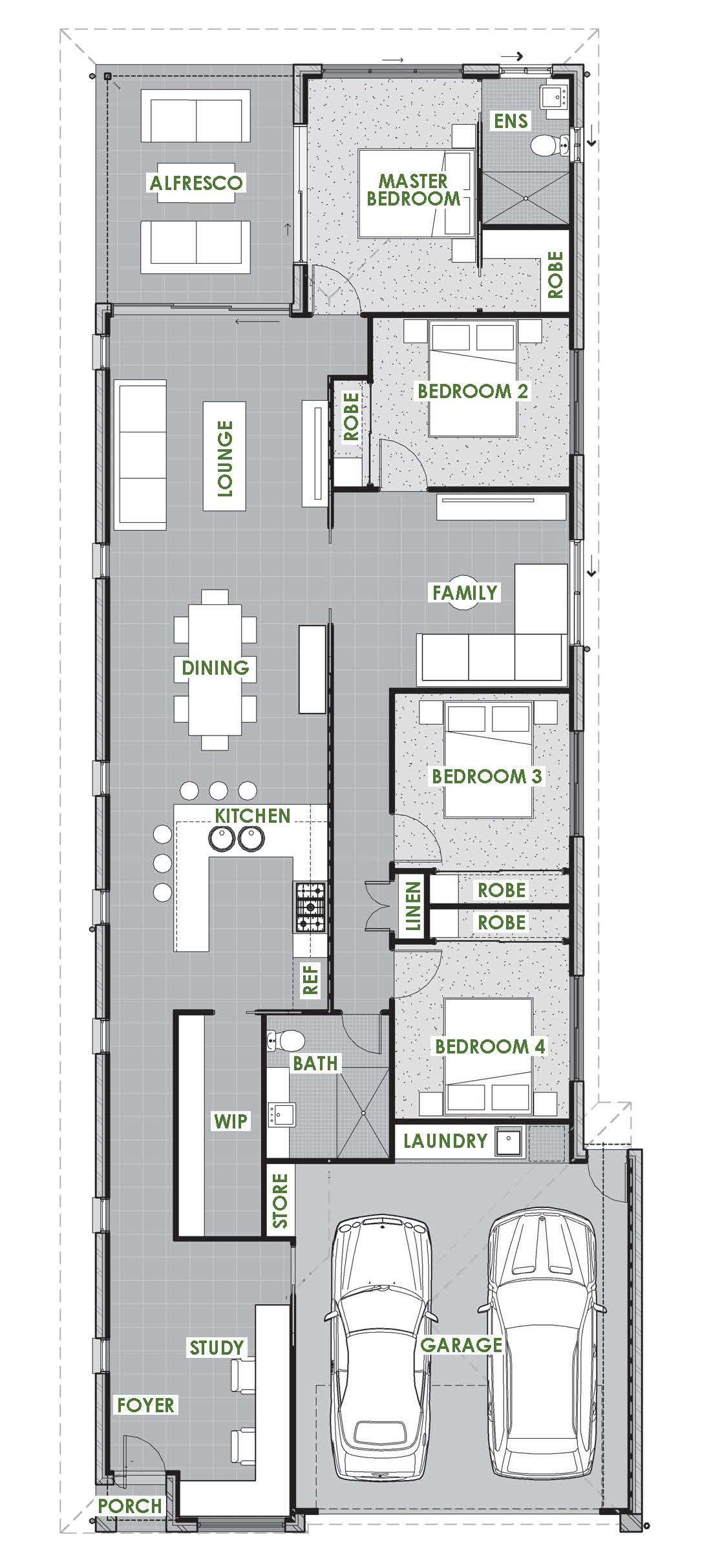 Springbrook Floor Plan Green Homes Australia Narrow House Plans House Plans Australia Earthship Home