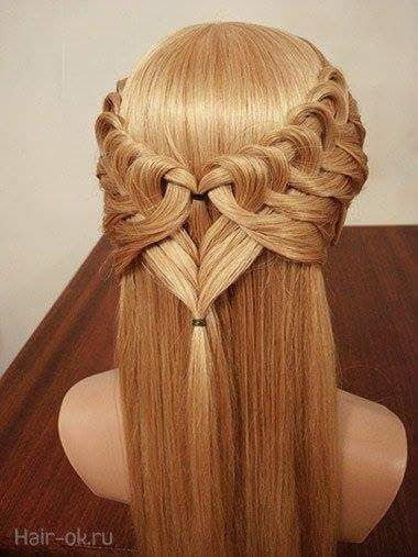 Peinados bonitos en forma de corazón (7 imágenes) trenzas modernas