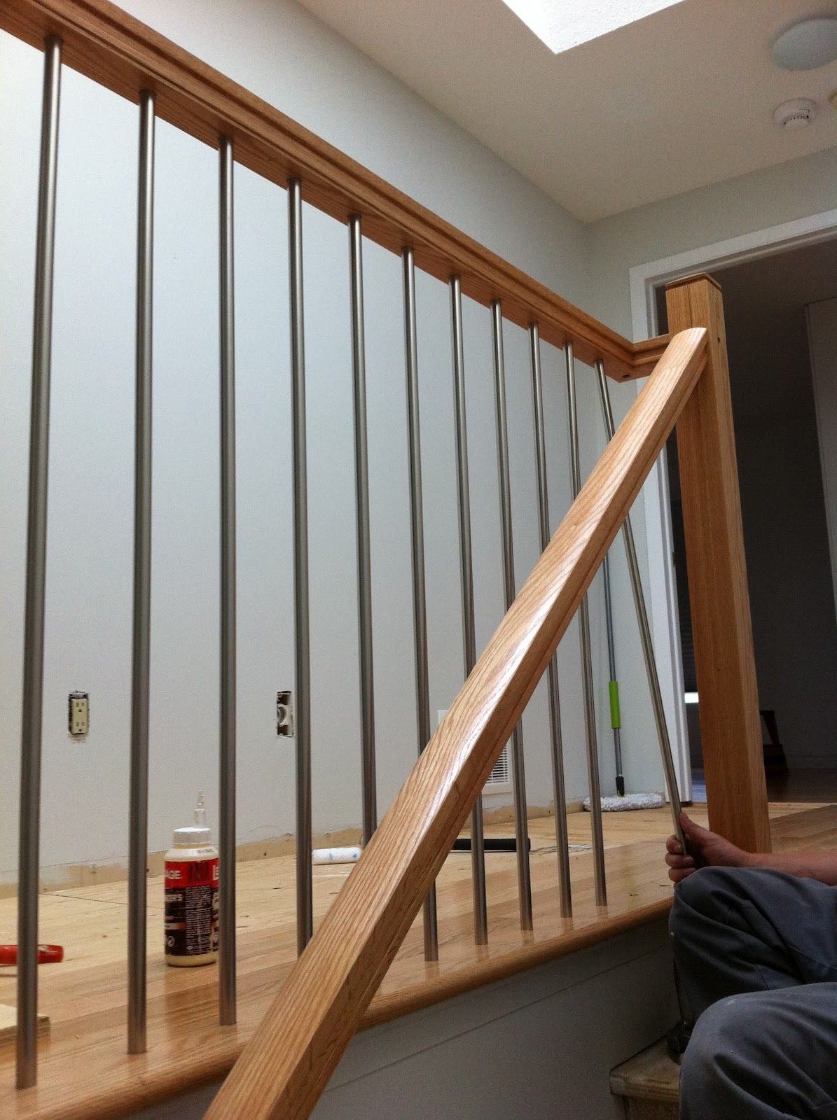 Stair Railing | This Weekend Our Stair Railing Got Installed! Yay, Happy  Dance. We .