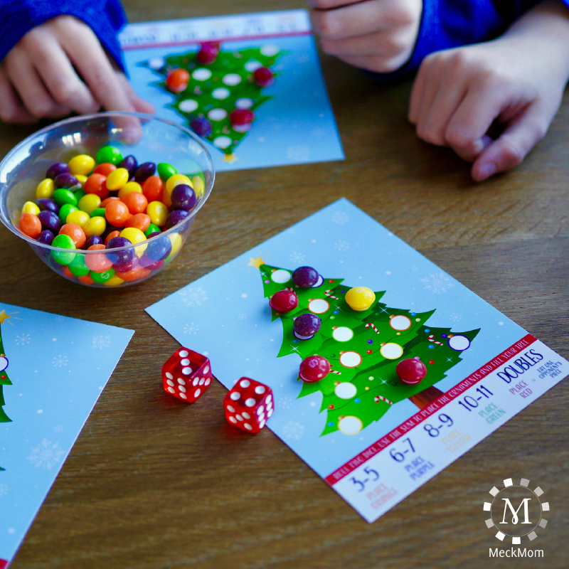 Printable Christmas Party Game: Roll A Tree