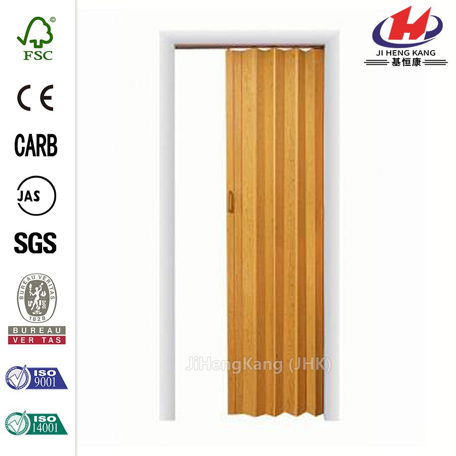 JHK F01 PVC Soundproof Accordion Bamboo Folding Interior Door