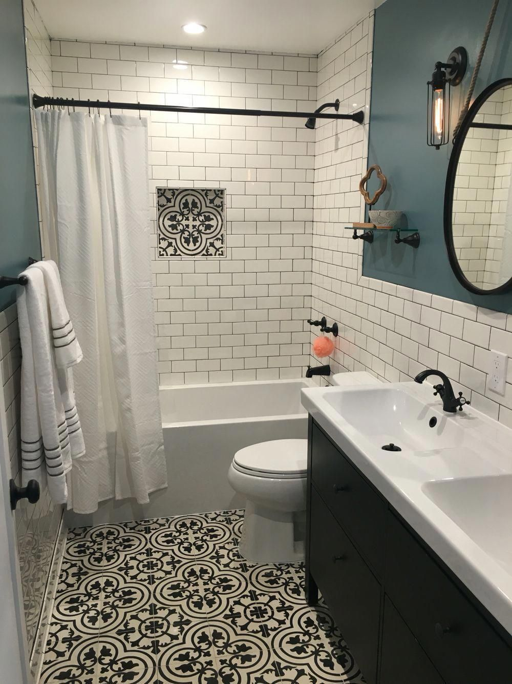 Most Popular Small Bathroom Remodel Ideas On A Budget In 2018 This Beautiful Look Was Created Bathrooms Remodel Bathroom Remodel Master Small Bathroom Remodel
