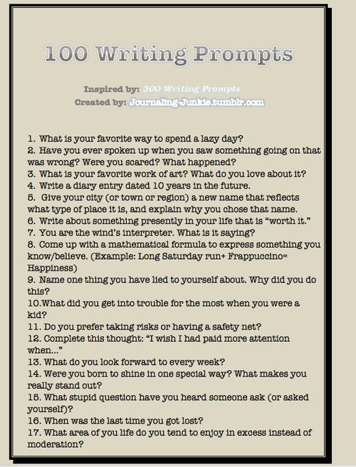 Creative writing journal ideas creative writing classes glasgow