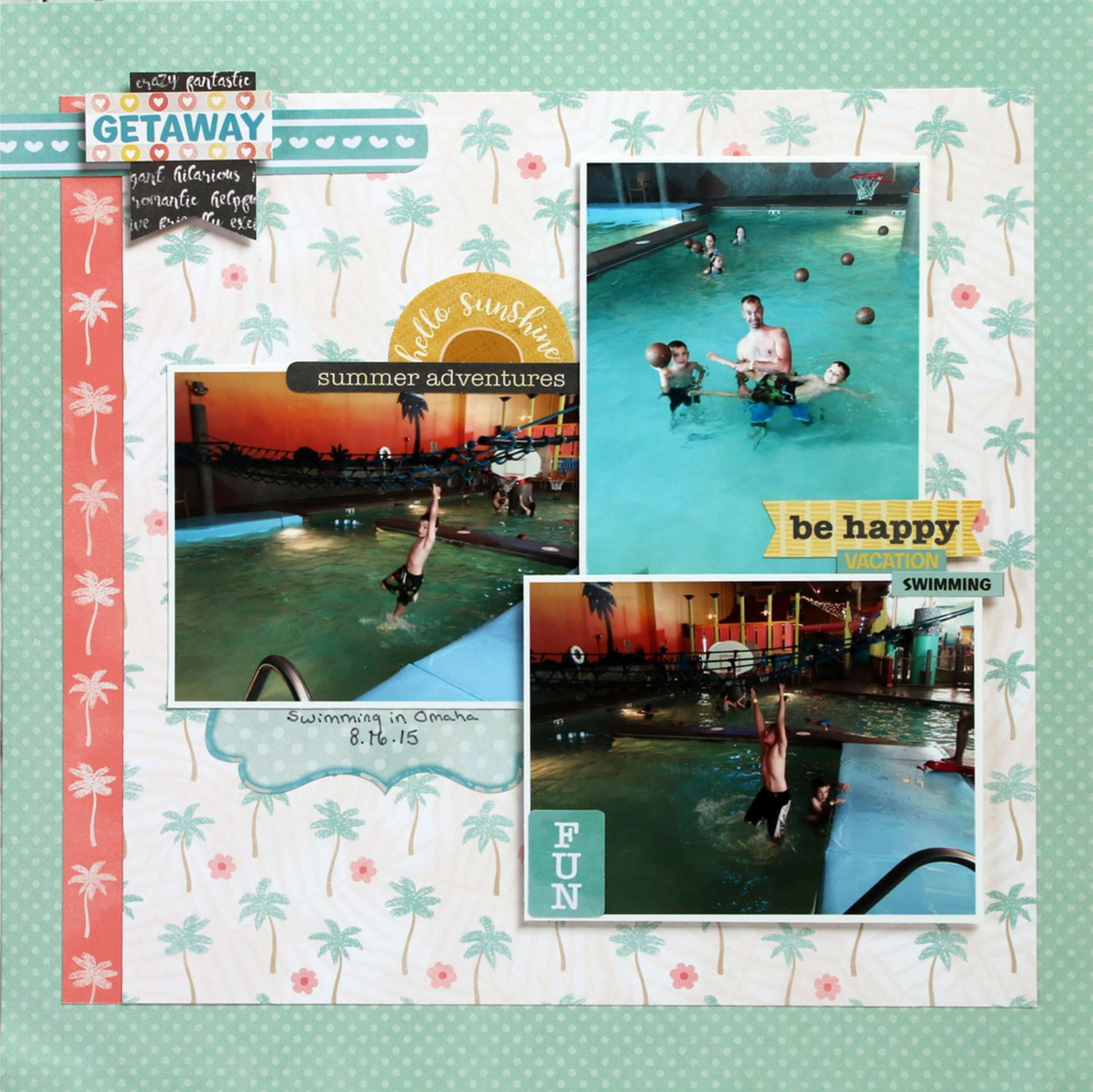 Premade Scrapbook Pages Beach Paradise EZ Layout 4084