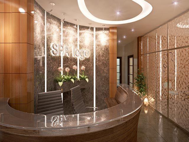 Reception Desk Interior Design Spa Brown Pics