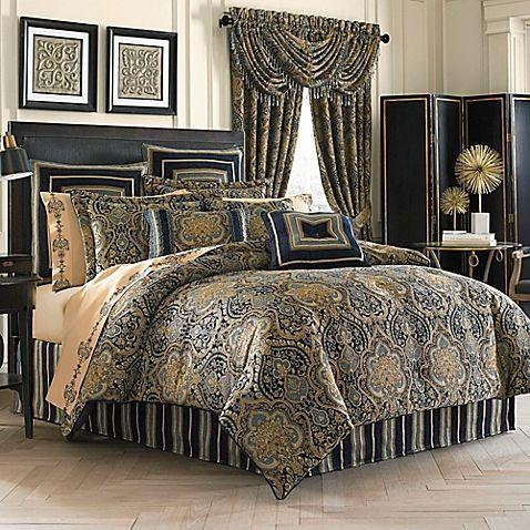 opulent design cream bedding. Bring traditional elegance to your bed with the opulent J  Queen New York Venezia Comforter