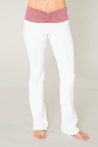Cozy Orange Pisces Yoga Pants in Rosewood and Optic White
