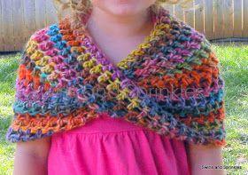 Swirls and Sprinkles: Crochet Summer Infinity Wrap Pattern
