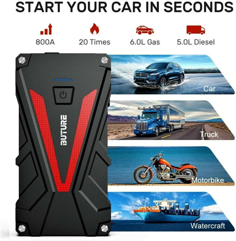 Car Jump Starter Power Bank Auto Battery Booster Portable Power Pack Vehicle Jum Ebay In 2020 Car Battery Portable Power Powerbank