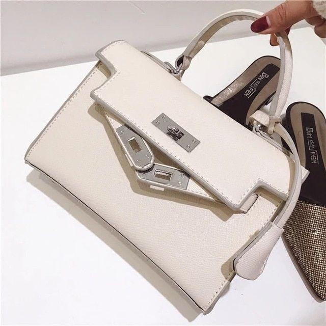 2018 new bag Kyly bag fashion trend pattern buckle square shoulder bag  across wild ladies handbag 9d21541f41d65