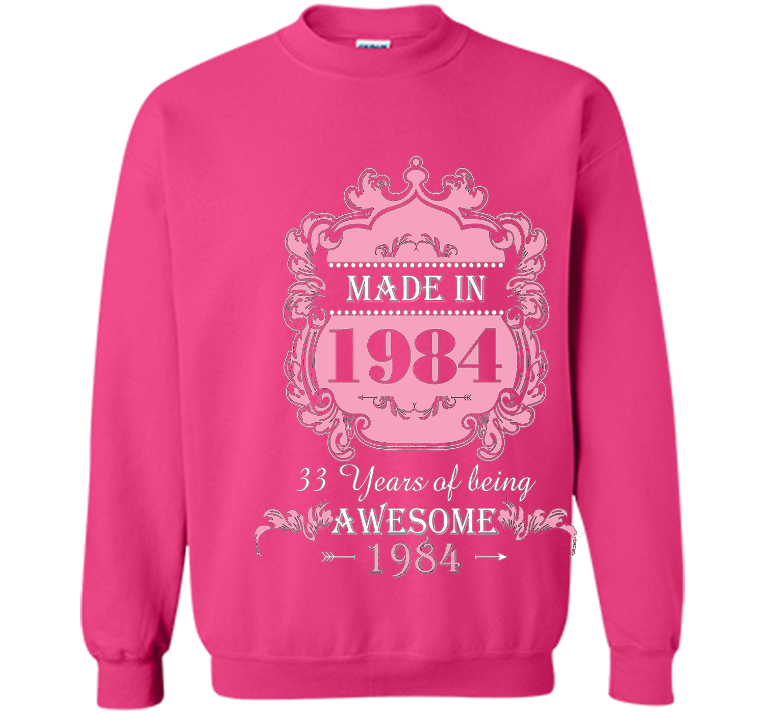 Made In 1984 T Shirt 33 Years Old 33th Birthday Gift