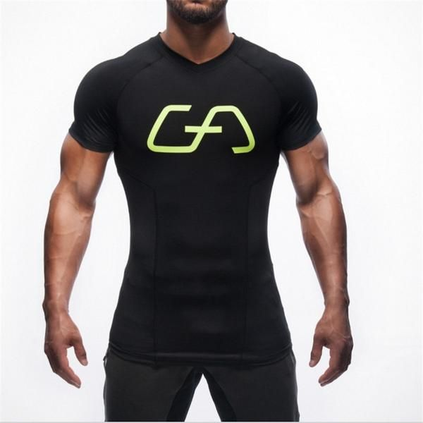 a2bce6e2bc ... Men Embroidery Tracksuit Bodybuilding Fitness Clothes. Bodybuilding  Clothing Compression TShirt – Body Building Tanks