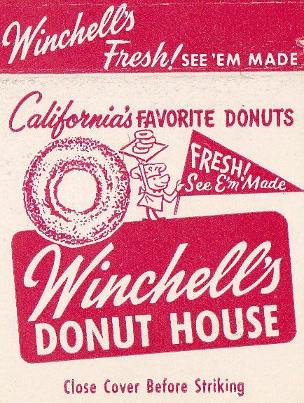Winchell S Donut House Matchbook Retro Ads Old Ads