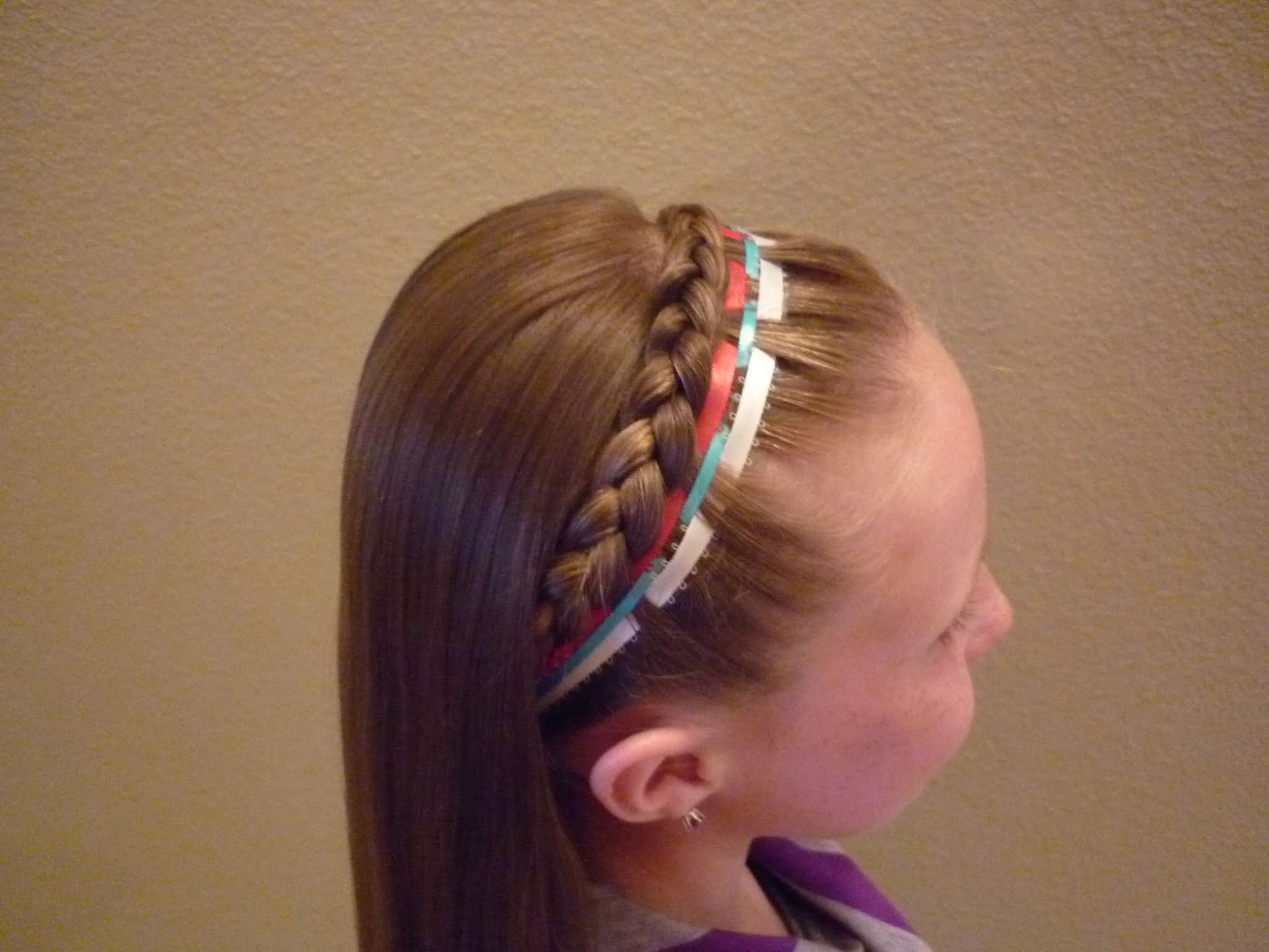 French Braid Headband Ribbon 4th Of July Hairstyle Ribbon Hairstyle French Braid Headband Hair Styles
