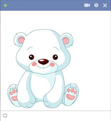 Sweet Polar Bear Emoji Symbols Emoticon New Emoticons