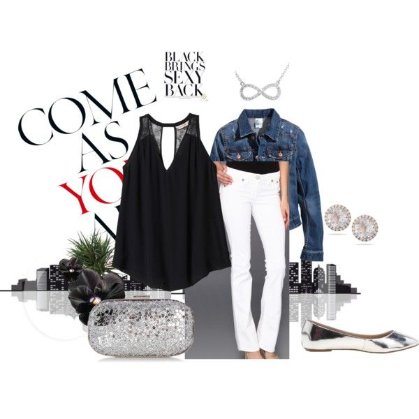 """""""Silver and Black"""" by mariquices on Polyvore"""