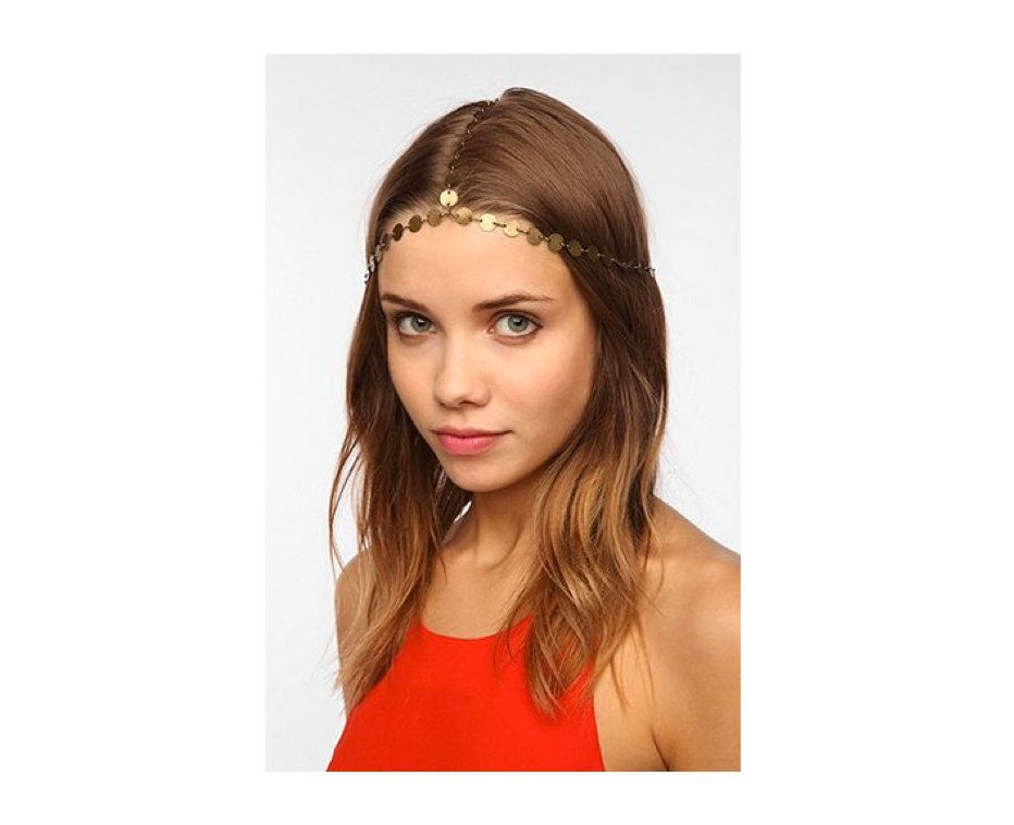 "Rouelle DION Headpiece: 3 Strand Coin Headpiece ($79.00) // As seen on Lady Kenna, played by Caitlin Stasey, in Reign episode 1x03, ""Kissed."""