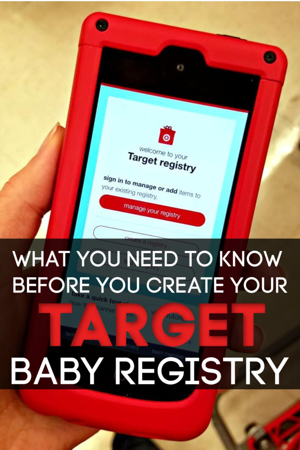 how to make a target registry
