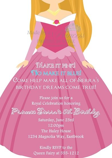 The Princess Series Aurora Sleeping Beauty Invitation In Case She Ever Decides To Have A Party