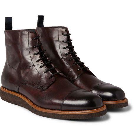 Hugo Boss - Aspero Leather Lace-Up Boots | MR PORTER