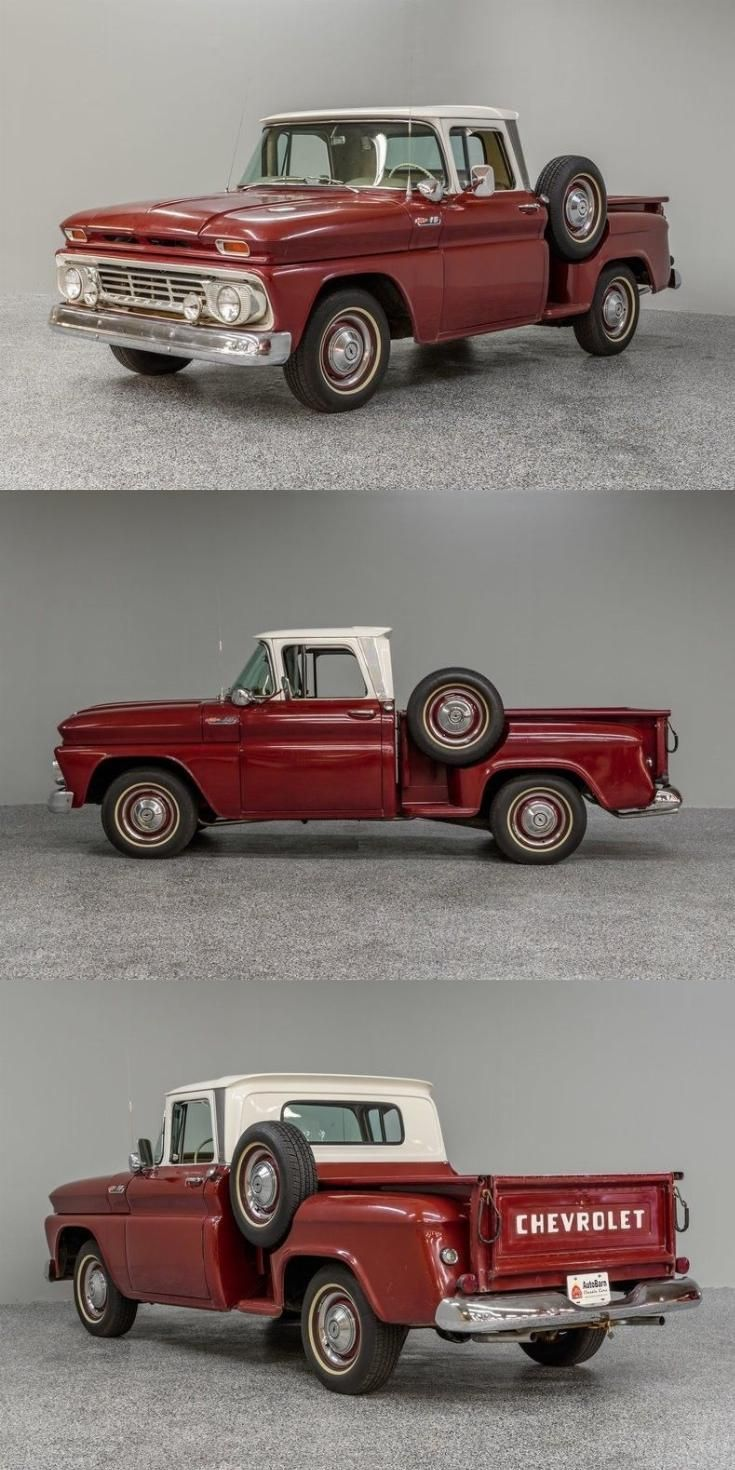 rebuilt engine 1962 Chevrolet C 10 pickup vintage #Chevyclassiccars