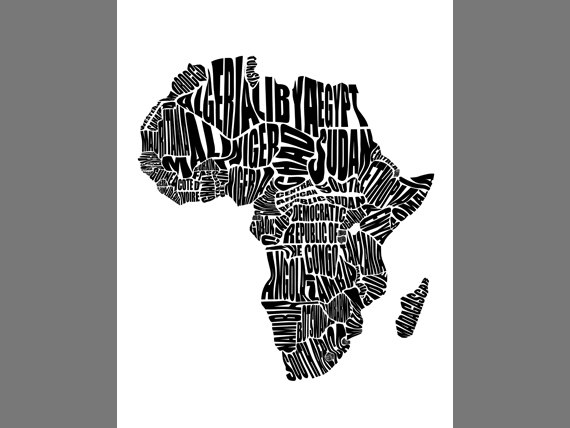 Map of Africa Africa Map Word Map of Africa African Countries
