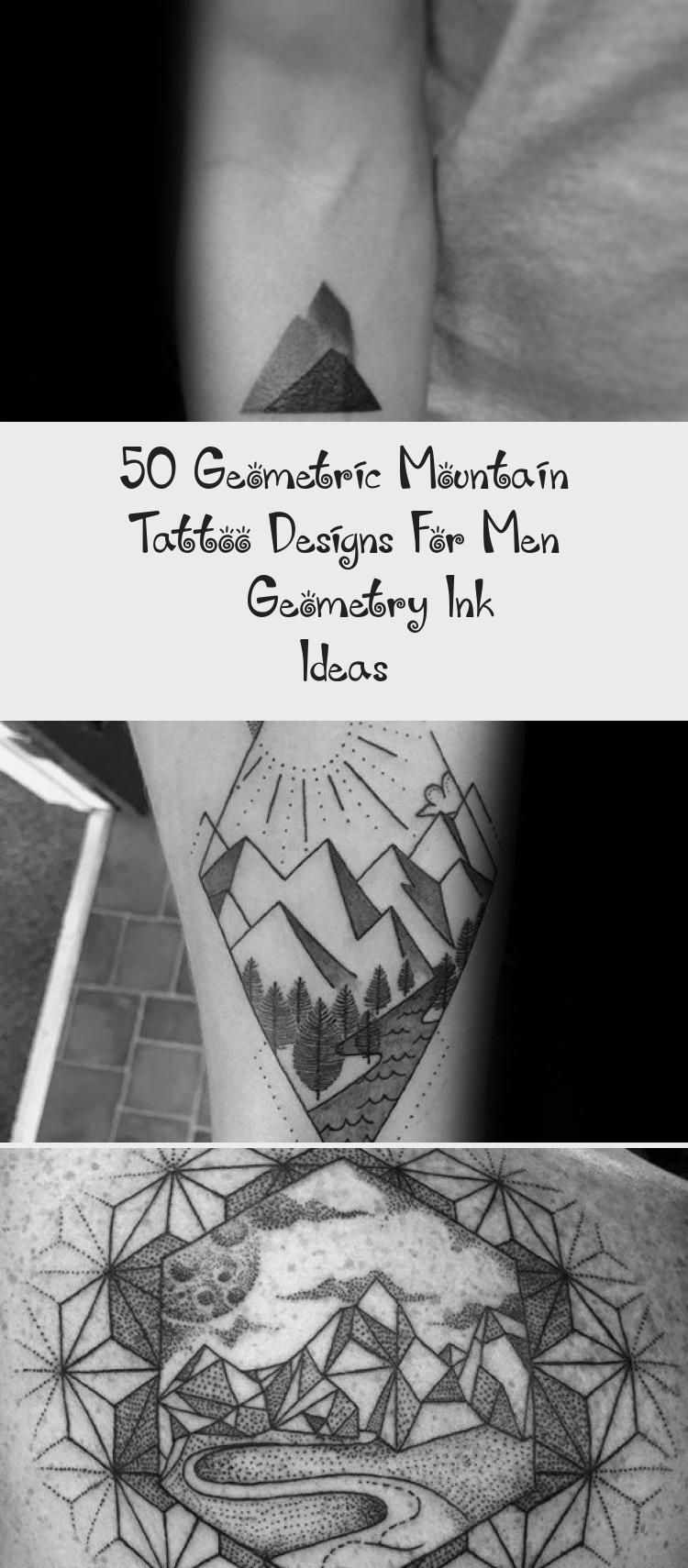 Photo of Gentleman With Geometric Mountain Tattoo #GeometricTattoosSpine #MinimalistGeome…