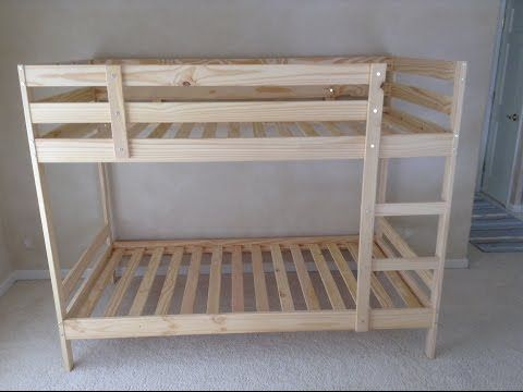 Ikea Mydal Bunk Bed Assembly Tips And Tricks Tutorial Wooden Bunk Beds Ikea Bunk Bed Bunk Beds With Stairs