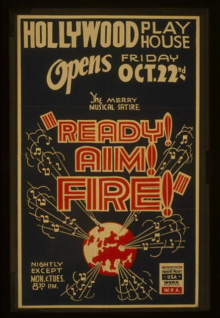 The Merry Musical Satire Ready Aim Fire Mid Century Art