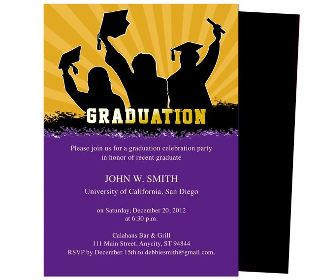 Graduation Announcements Templates  Extravaganza Printable DIY - graduation announcement template