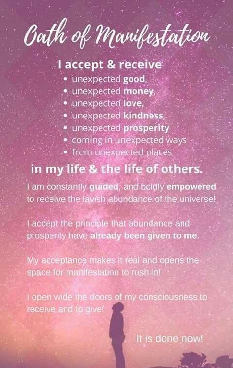 Wealth and Abundance  < Oath of Manifestation