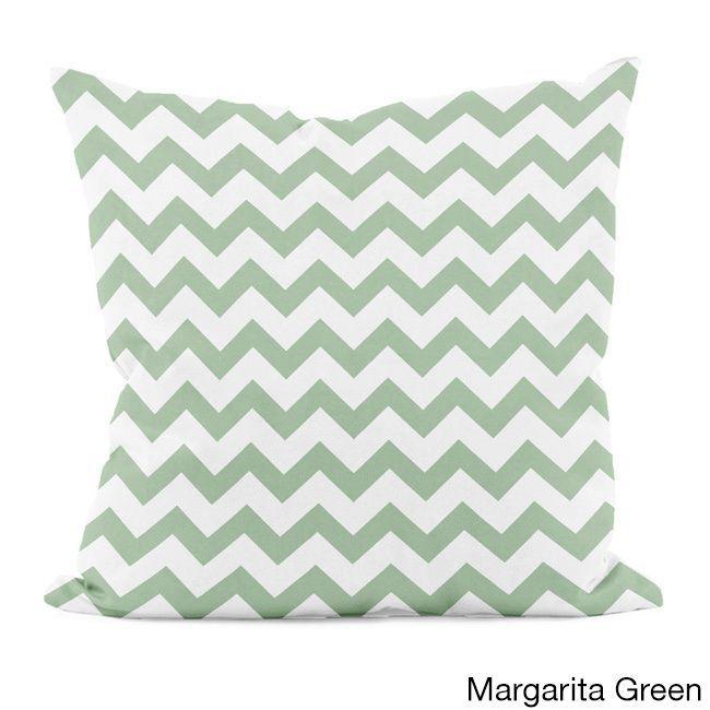 E by Design Bright Zig-zag 20x20-inch Decorative Pillow