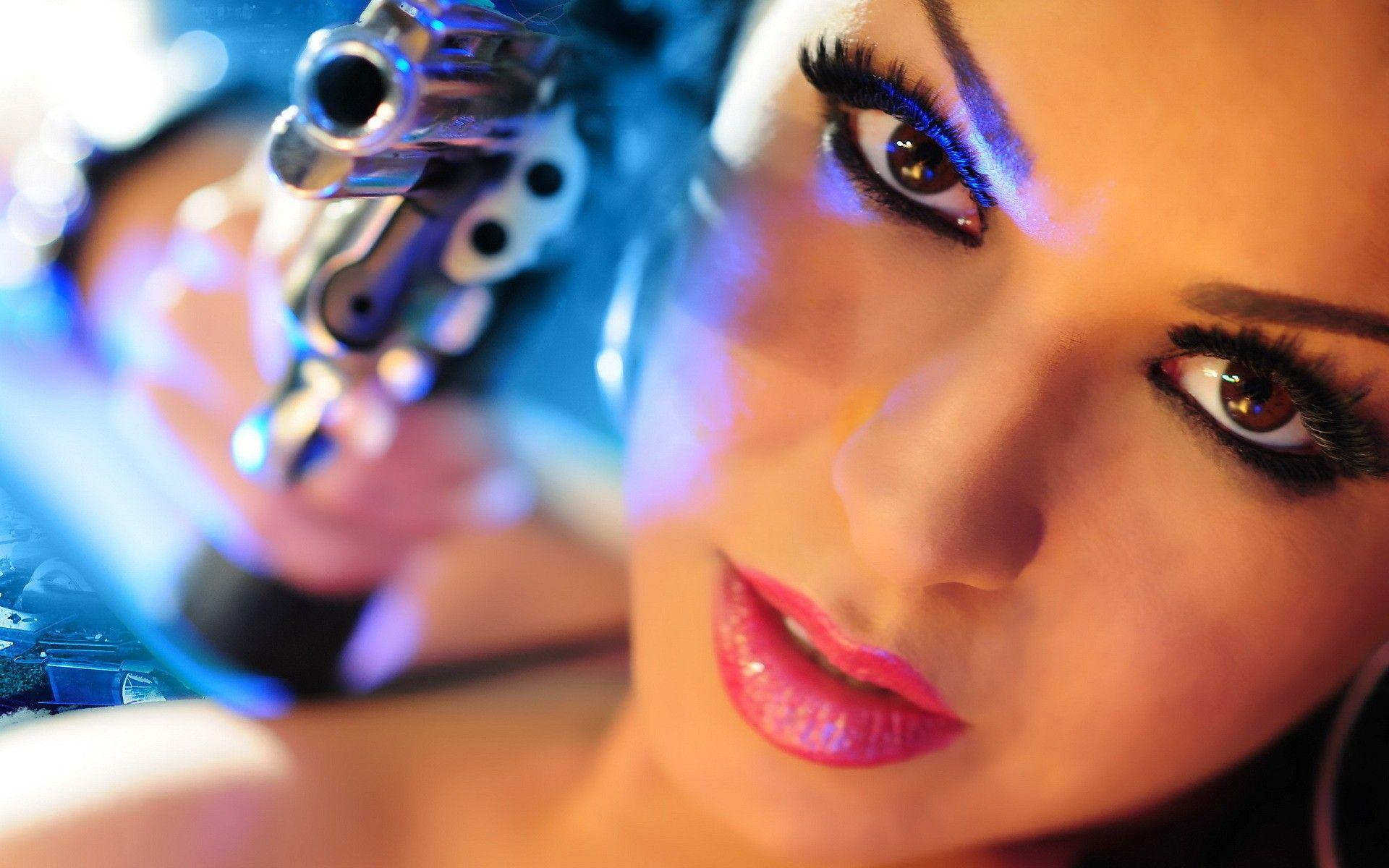 Pin On Girl With Gun