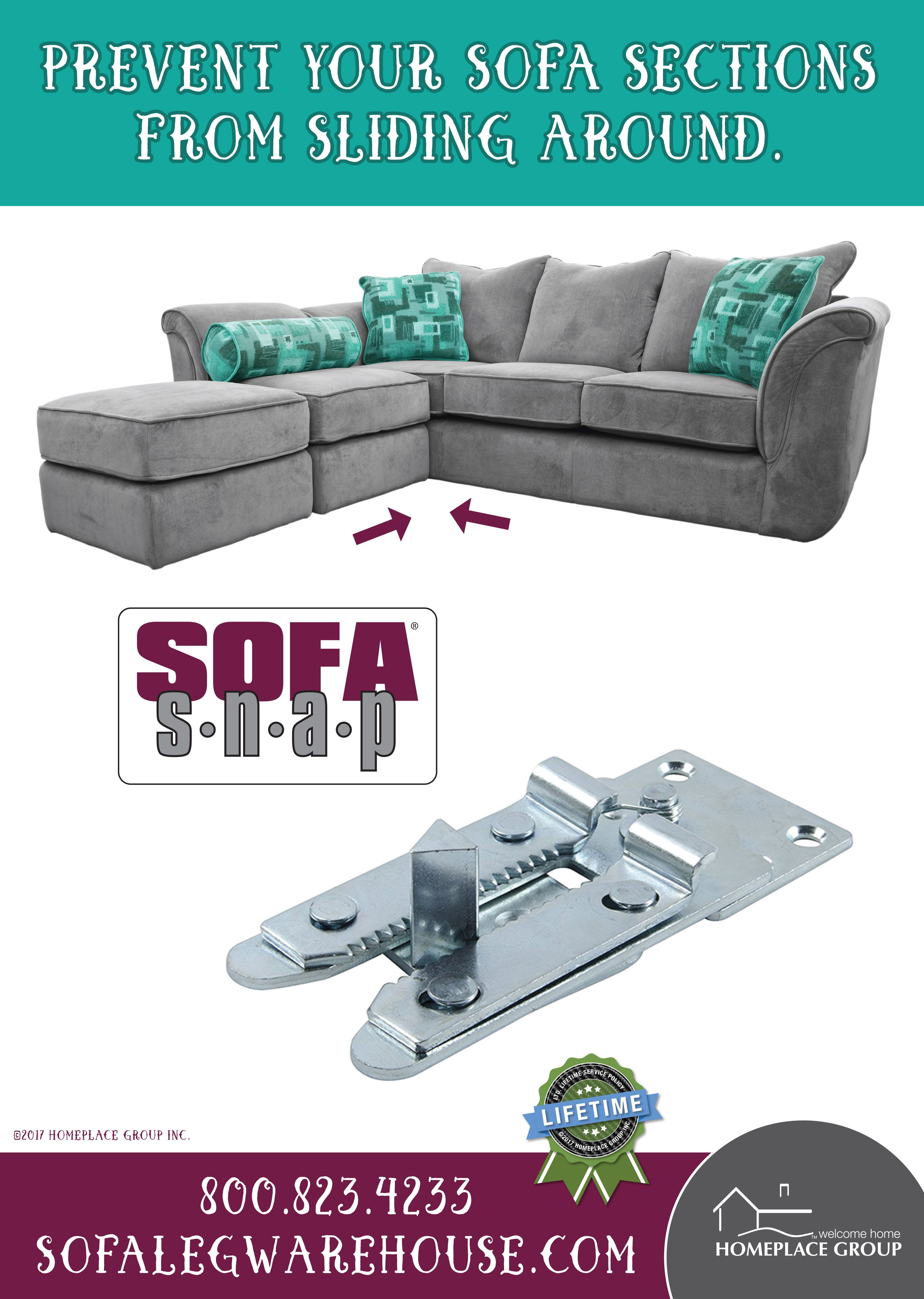 If You Have Kids Or Pets You May Notice That Your Sectional Couch Doesn T Always Stay Put The Sofa Snap Bracket Costs Only Sectional Couch Couch Sliding Sofa