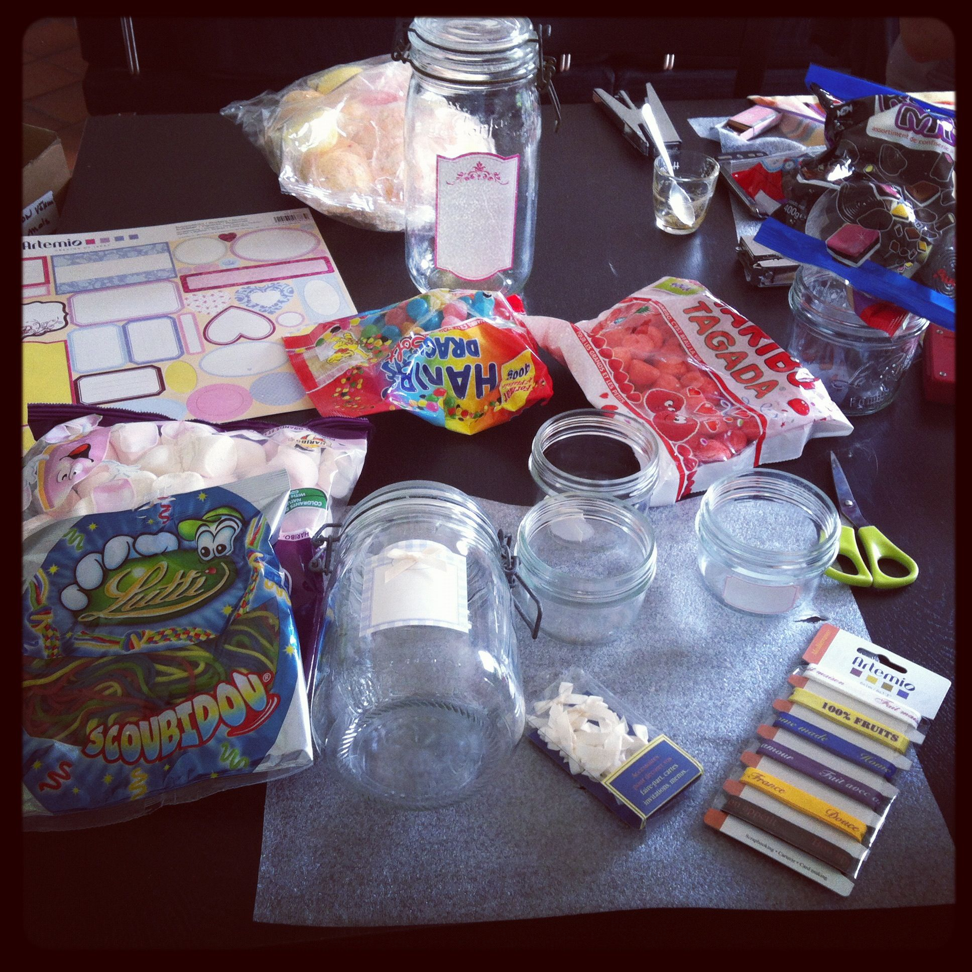 #Candybarenpreparation #preparatifspourbuffetdebonbons