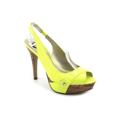57deb108dfb G by Guess Women's Cabelle Slingback Platform Pump in Yellow | SHOES ...