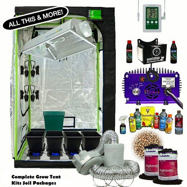 complete grow tent kits soil packages : 2x2 grow tent kit - memphite.com