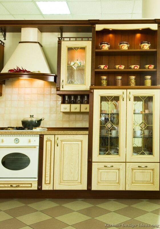 kitchen idea of the day traditional two tone kitchen with wood cabinet frames. Interior Design Ideas. Home Design Ideas