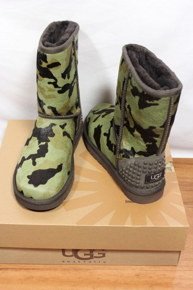 Pony Hair Camouflage Camo Short Boots
