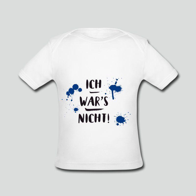Kinder Sprüche Shirt ICH WARS NICHT BLAU